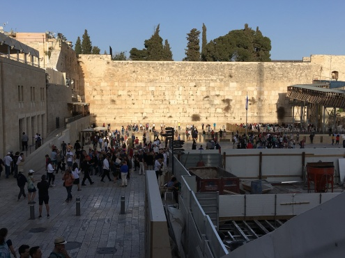 Approaching the Western Wall