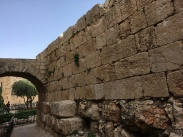 Roman wall in the King David Museum