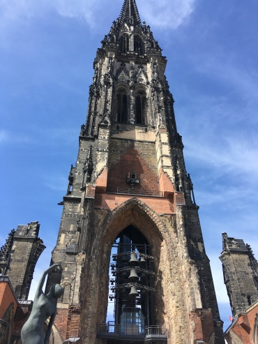 Hamburg Cathedral - destroyed in WWII, now a monument of rememberance